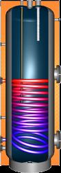Brauchwasserspeicher ERSS 120L weiß, Anschlüsse seitlich