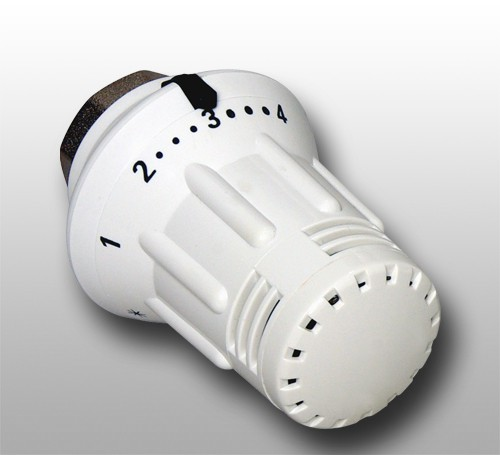 Thermostatkopf DelphisTherm mit Nullstellung, 30 x 1,5mm, Sollwert 7 - 28°C weiß