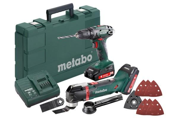 Metabo 18V-Akku-Werkzeug-Set Combo 2.6.2, SB 18 LTX + MT 18 LTX