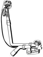Ablaufgarnitur Funktionseinheit 40/50 Multiplex Trio f.normale Wanne