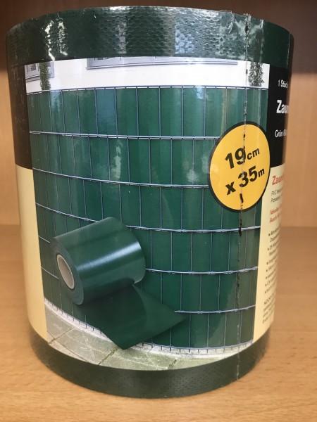Sichtschutz moosgrün RAL 6005 für Doppelstabmatten 19cm x 35m
