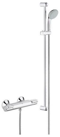 Brausebatterie-Thermostat Grohtherm 800 mit Brausestange 900mm